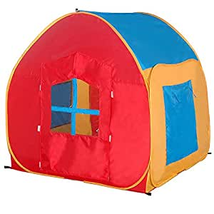 my first play house pop up tent multicolor toys games. Black Bedroom Furniture Sets. Home Design Ideas