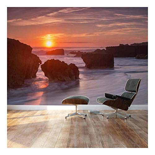 (wall26 - Rocks are Surrounded by Ocean Mist - Landscape - Wall Mural, Removable Sticker, Home Decor - 66x96 inches)
