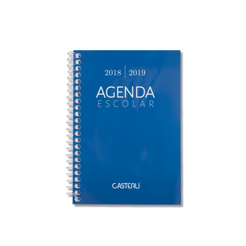 Casterli Iberia - Agenda Escolar 2018/19, día página, tamaño A6 (Negro)
