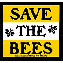 """Save The Bees - Bumper Sticker / Decal (3.25"""" X 3"""")"""