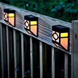 2 x Solar Fence Lights Wall Mount LED Garden Light Lamp Outdoor Lightings For Deck Post Stairs Steps Gutter Patio Pond Pool