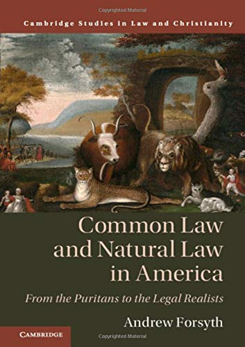 Common Law and Natural Law in America: From the Puritans to the Legal Realists (Law and Christianity) (The Study Of Law And Legal Philosophy)
