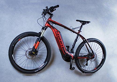 trelixx Fahrrad Wandhalter Lixx E-Bike, Design Fahrrad-Wandhalter aus Plexiglas®, zugelassen für schwerere Räder und E-Bikes - Wandmontage