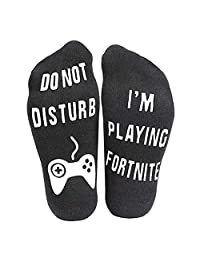 "Forart Funny Gamer Gift Ankle Socks Print""Do Not Disturb I'm Playing Fortnite"""