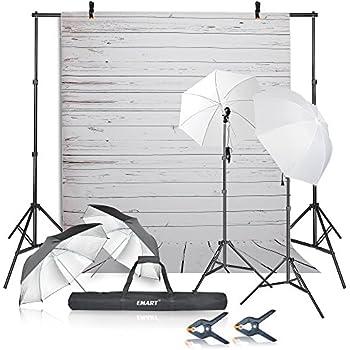 Emart Photography Umbrellas Continuous Lighting Kit 400W 5500K 10ft Backdrop Support System with Vinyl  sc 1 st  Amazon.com & Amazon.com : Andoer Photo Studio Lighting Kit 3pcs 45W Light Bulb ... azcodes.com