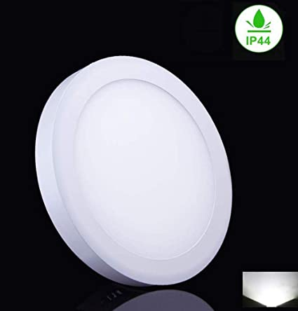 watch 44748 1dcc3 18W Round Surface Mounted LED Ceiling Lights IP44, Led Panel DownLights  Ceiling Fitting for Bedroom Bathroom, Living Room, Kitchen,6000K