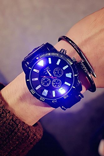 Price comparison product image Generic Korean_style_of stylish simple_full-automatic_Mechanical_ watch es_men women_Tide_ watch s_for_couples_waterproof_glow-in-the-belt_ quartz watch