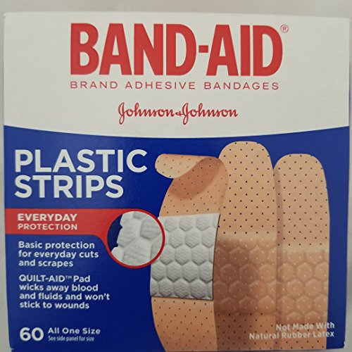 Band-Aid Plastic Strips Everyday Protection All One Size, 60 Count Each(Pack of 6) (Band Aid Plastic Strips)