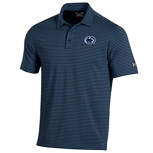 Under Armour NCAA Penn State Nittany Lions Men's Playoff Short Sleeve Stripe Polo Shirt, Small, Navy ()