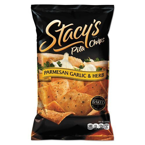 (Stacy's Pita Chips, 1.5 oz Bag, Parmesan Garlic & Herb, 24/Carton by Stacy's)