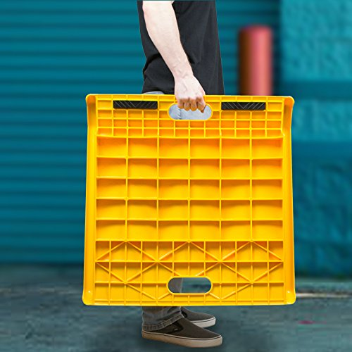 Curb Ramp - Heavy Duty 1000 Lbs Load Capacity - Yellow High Density Polyethylene for Hand Truck Delivery by BUNKERWALL (Image #4)