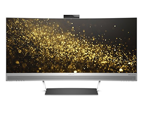 HP HP Envy 34 Curved Display Envy 34-inch Ultra WQHD Curved Monitor with AMD Freesync Technology, Webcam and Audio by Bang & Olufsen (Black/Silver) (Certified Refurbished) (Hp Monitor Webcam)