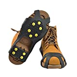 5 offset spatula - Ice Grips Anti-slip Ice Grips With 10 Steel Studs Slip-on Stretch/Ice Traction Cleats for Walking, Jogging, or Hiking on Snow and Ice,1 Pair Ice&Snow Grips-Hiking Spikes - Snow Cleats (XL)