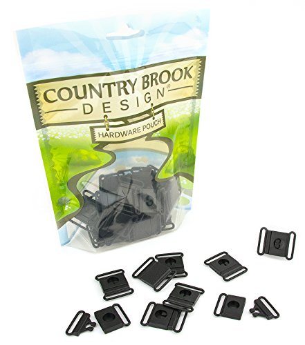 10 - Country Brook Design 3/4 Inch Breakaway Center Release Plastic Buckle (Apart Break Chain)