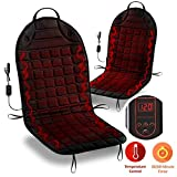Zone Tech Car Heated Seat Cover Cushion Hot Warmer - 2-Pack 12V Classic