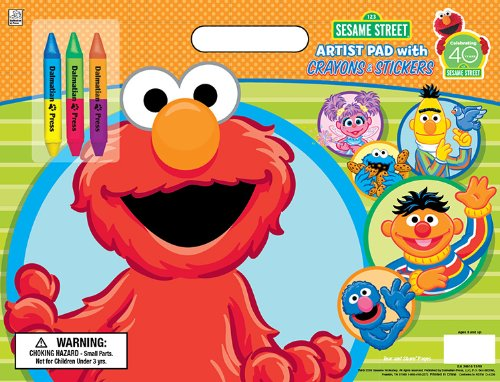 Sesame Street Artist Pad with Stickers and (Abby From Monster High)