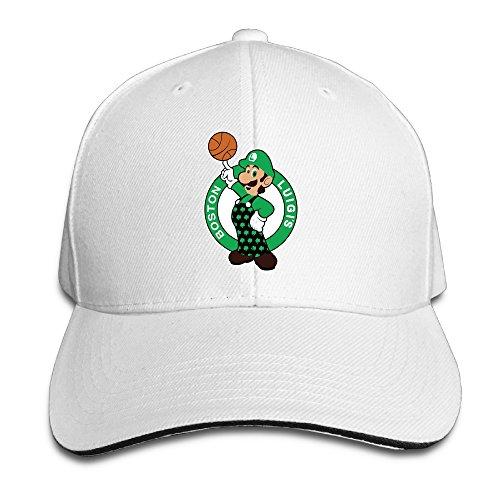 Boston Celtics Anime Logo Baseball Hats Sandwich Peaked Cap - White Boston Celtics Socks