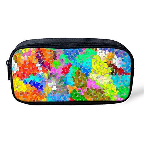 (Showcool School Students Pencil Case Holder Cool 3D Colourful Art Painting Irregular mass Pattern Supplies Pen Bag Pouch Polyester cute for School Teens boys girls girl)