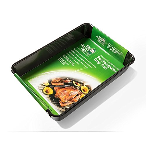 Big Green Egg Grill And Smoker Chicken And Turkey Roasting Bundle Pack - 2 Drip Pans - 13'' X 9'' Rectangular and 11'' Round With Nickel Plated Vertical Chicken And Turkey Holders by Big Green Egg (Image #5)