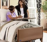 Invacare 5410IVC, 6630DS, 5185 Full Electric Homecare Bed, Full Electric Bed, 5410 IVC with Innerspring Mattress, 5185 and Half Length Rails, 6630DS