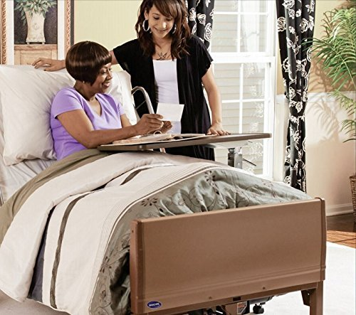 (Invacare 5410IVC, 6630DS, 5185 Full Electric Homecare Bed, Full Electric Bed, 5410 IVC with Innerspring Mattress, 5185 and Half Length Rails, 6630DS)