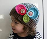 Crochet vintage inspired beanie (46) 4 sizes newborn to adult (Crochet hat Book 1)