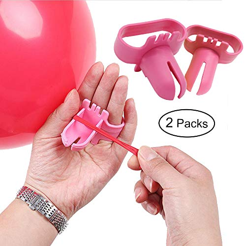 Topllon Balloon Tying Knot Tool Device 2 PCS, Save Time Balloons Accessory Party Supplies for Helium Electric Ballsoon Blower, Balloon Column Arch, mixed