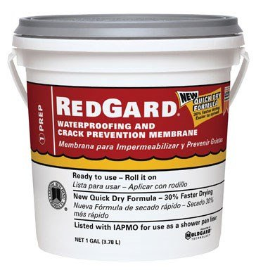 (CUSTOM BLDG PRODUCTS LQWAF1-2 Redgard Waterproofing, 1 gal )
