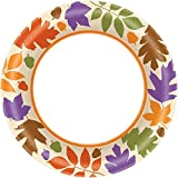 Amscan Autumn Warmth Thanksgiving Party Plates Tableware, Paper, 8'' Pack of 40 Childrens, 960 Pieces