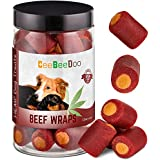 CeeBeeDoo Dog Treats with Hemp Oil for Pain Relief & Anxiety – Healthy & Tasty Hemp Treats for Dogs – Natural Pet Hemp Chews Dog Calming Treats for Small & Large Dogs, (Beef Flavored)