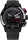 Edox Men's 01118 37NR NRO Chronorally 1 Analog Display Swiss Automatic Black Watch