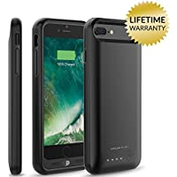 iPhone 7 Plus Battery Case, Nero7 120% Extra Charging Power Extended Portable Slim Protective Charger Juice Pack (Black)
