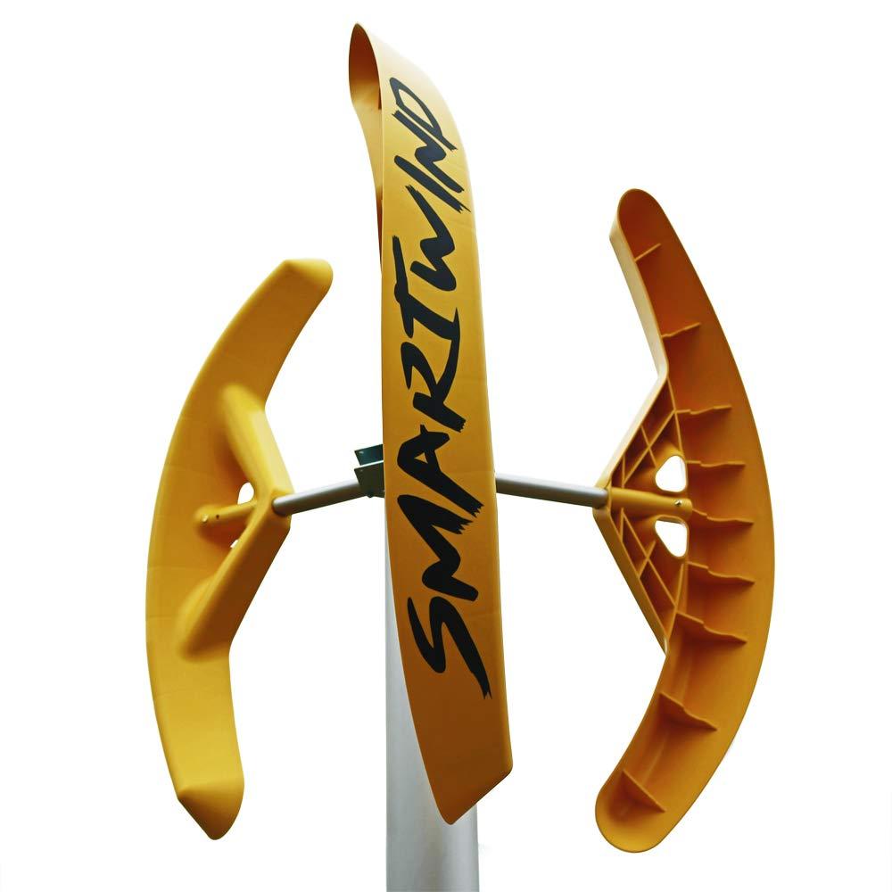 Generador eólico doméstico SMART WIND pequeña Mini Micro Aerogenerador Turbina eólica 12 V Vertical aspas eólicas savonius casa terraza Techo jardín