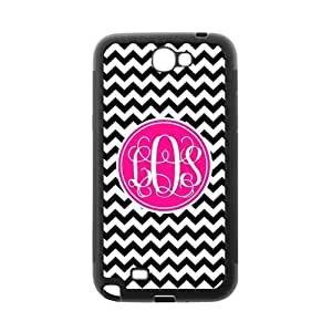 Pink Circle Monogram Personalized Black and White Chevron Pattern with Cursive Initials luxury Diy For Ipod 2/3/4 Case Cover (Black)ALL MY DREAMS