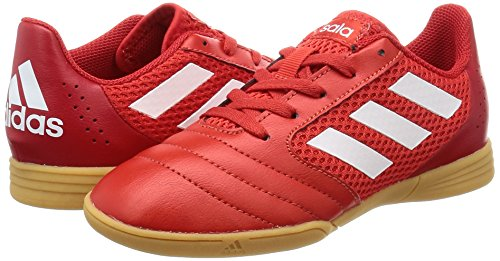 adidas ACE 17.4 SALA J - Zapatillas fútbol sala para niños, Rojo - (ROJO/FTWBLA/ESCARL), -33