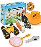 Outdoor Adventure Kit for Kids - Binoculars, Flashlight, Compass, Magnifying Glass & More. Children...