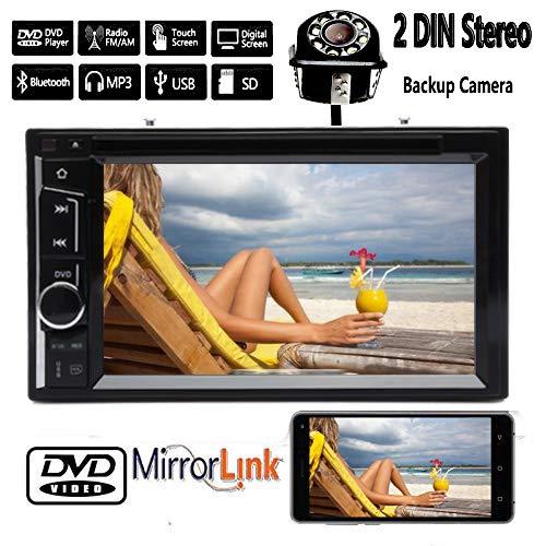 Double Din Car Stereo + Backup Camera 6.2