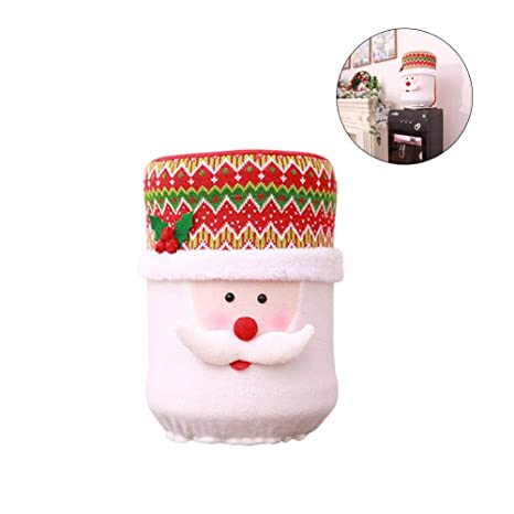 Decoración de Navidad Cubo de dispensador de agua Cubierta decorativa Fuente de agua de cúpula Cubierta
