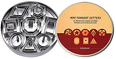 ShengHai Geometric Shapes Cutters, Mini Cutters Including Hexagon, Square, Circle, Oval, Octagon, Diamond Molds for...