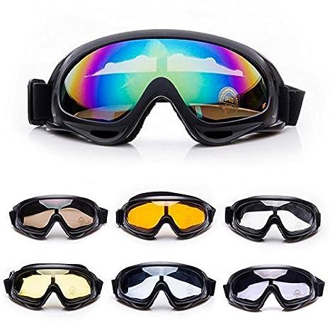 Moto Lunettes de cyclisme, résistant aux intempéries la poussière Sable Vent de protection Lunettes de soleil Sports de plein air Lunettes de ski Eyewear Lunettes de tactique pour éviter les particule