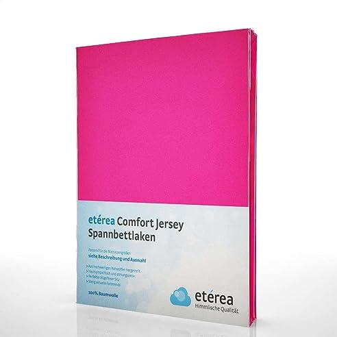 Etérea Jersey Topper Spannbettlaken  Serie Comfort  100% Baumwolle  Spannbetttuch, 180x200  200x200