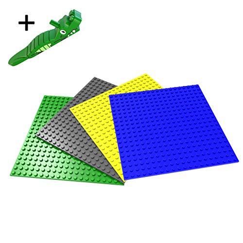 "Building Bricks Baseplates 6"" × 6"" Pack of 4 Colors"