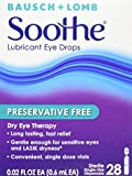 Bausch and Lomb Soothe Preservative-Free Long-Lasting Lubricant Eye Drops --28 ct