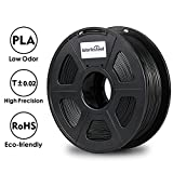 3D Printer - 3D Printer Filament - Black 1.75 mm PLA Filament, Dimensional Accuracy +/- 0.02 mm Low Odor 3D Printing Filament, 2.2 lbs Spool 1.75 mm Filament PLA 3D Filament for Most 3D Printer & 3D Pen