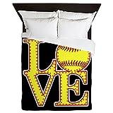 CafePress-Love-Softball-Stitches-Queen-Duvet-Cover-Printed-Comforter-Cover-Unique-Bedding-Microfiber
