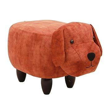 Home Furniture Footstools Upholstered Ottoman Footstool,Animal Dog Ride On  Footrest Stool Coffee Table