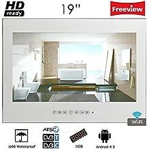 Soulaca Android Smart Magic Mirror with WiFi Bathroom Waterproof LED TV M190FAMYAA (Mirror)