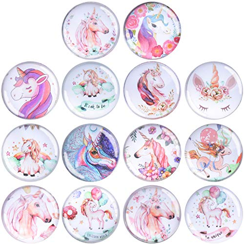 (14 Count Unicorn Refrigerator Magnets For Refrigerator Office Cabinets Whiteboards Photo With Storage Box)