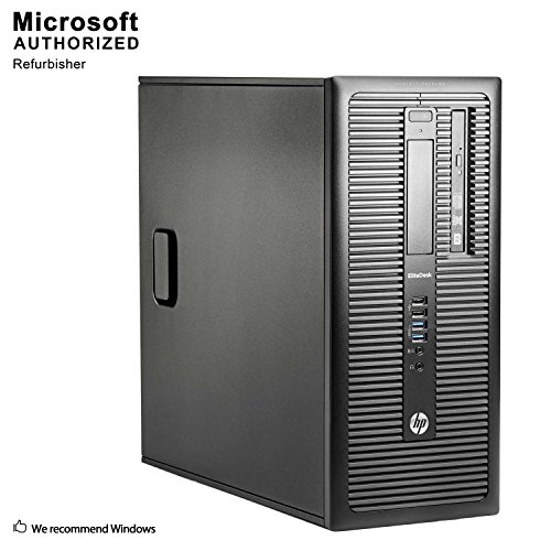 HP EliteDesk 800 G1 Business Tower Computer PC (Intel Ci5-4570 up to 3.6GHz, 16GB Ram, 1TB HDD + 120GB SSD, Wireless WiFi, Display Port, USB 3.0) Win 10 Pro (Renewed) (Fi Tower Wi Computer)