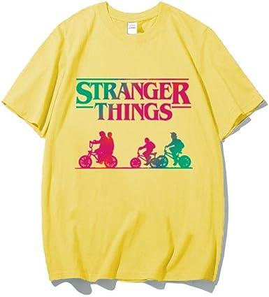 Camiseta Stranger Things Niña, Camiseta Stranger Things Mujer, Manga Corta Cuello Redondo Camiseta Impresión T-Shirt Abecedario Camiseta Stranger Things Temporada 3 Camisa de Verano Camisetas: Amazon.es: Ropa y accesorios